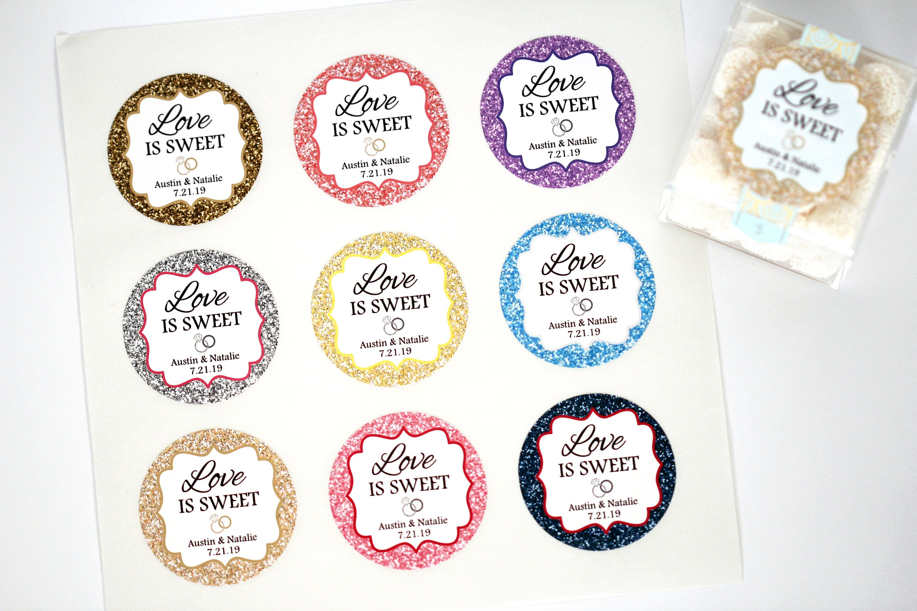 Love is Sweet Favor Sticker, Wedding Favor Sticker, Shower Favor ...