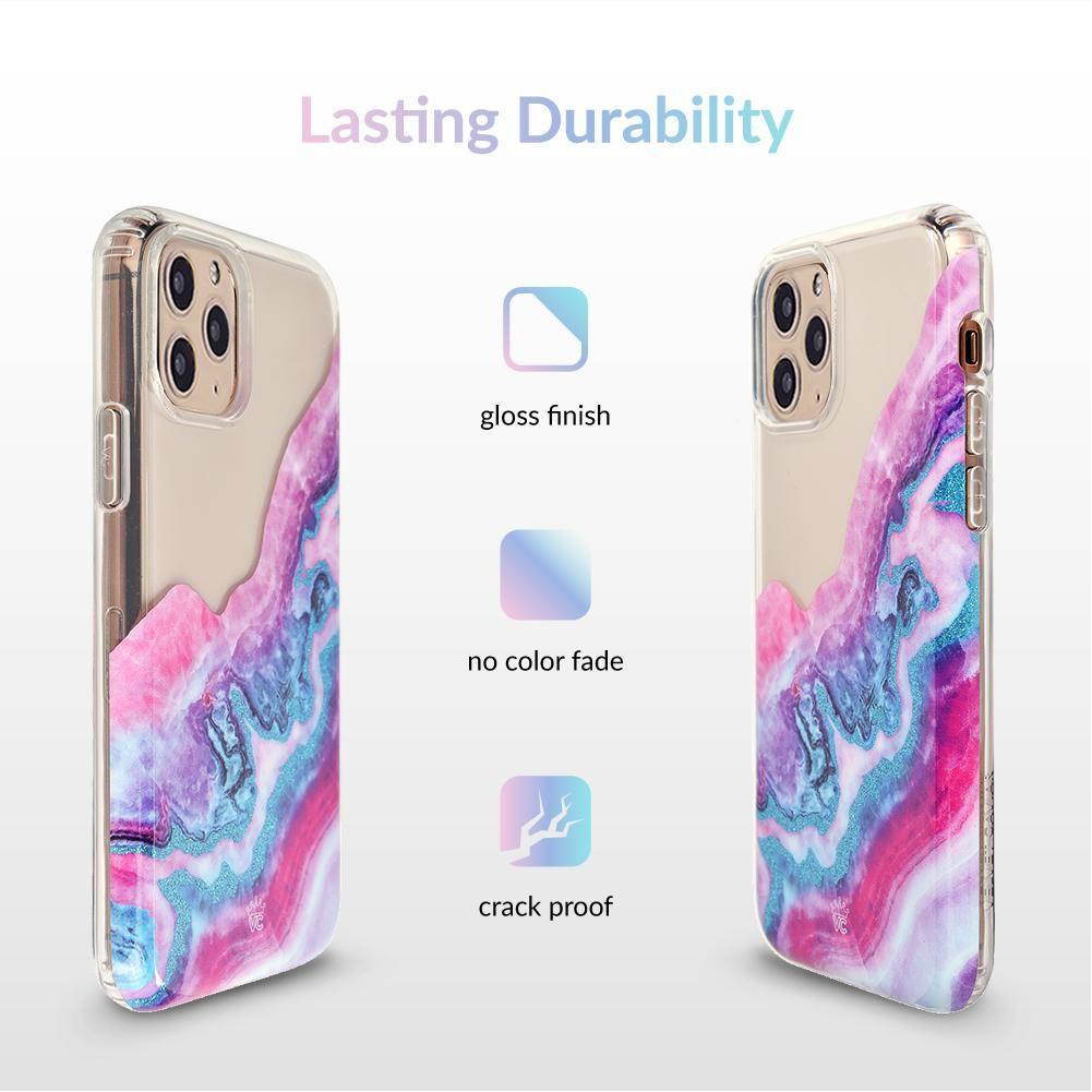 Geode glitter clear iphone case clear iphone case