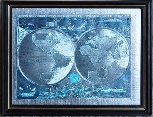 Framed replica of 1643 world map titled nova totivs terrarvm orbis framed replica of 1643 world map titled nova totivs terrarvm orbis geographica ac hydrographica tabvla gumiabroncs Gallery