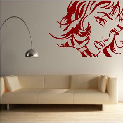 Pop Art Pop Art Girl Vinyl Decor Pop Art Wallpaper