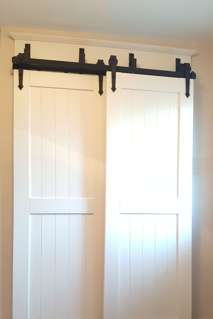 Bypass Barn Door Hardware Easy To Install Canada Bypass Barn Door Hardware Bypass Barn Door Barn Door Closet