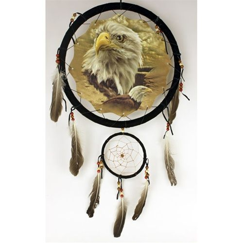 Dual Eagles theme dream catcher with feathers.  http://www.facebook.com/pages/Indian-Chief-Legend/505680782803314    What id the difference beetween Indian and Harley?  Harel is for sell  Share the love :)