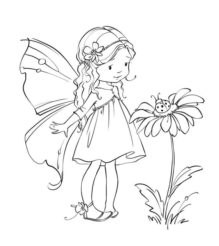 cute fairies coloring pages - photo#5