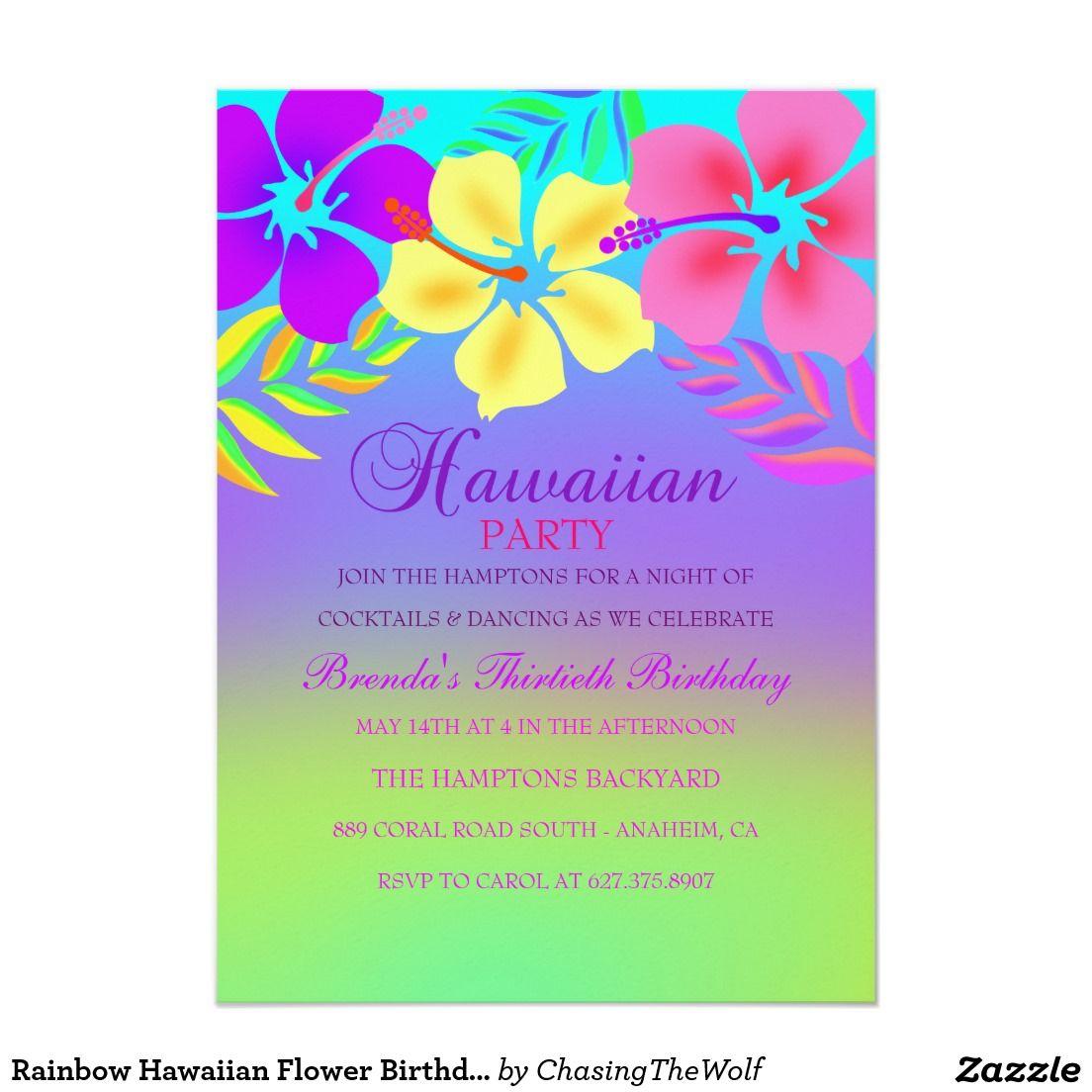 www.free Aloha Birthday invitation - Google Search