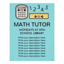 image result for math tutor flyer template