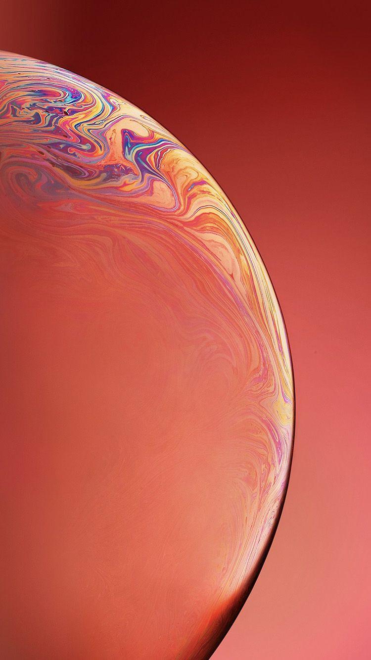 Bg39 Apple Iphone Xs Space Official Art Orange Bubble Iphone Wallpaper Ios Iphone 6s Wallpaper Iphone Homescreen Wallpaper