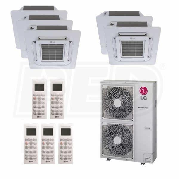Lg L5h48c1212121212 Ceiling Cassette 5 Zone System 48 000 Btu Outdoor 12k 12k 12k 12k 12k Indoor 17 8 Seer Room Air Conditioner Ductless Heating And