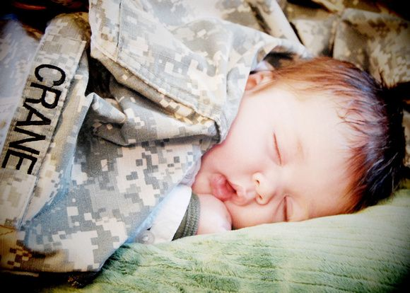 Adorable military baby photo