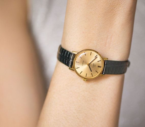 953b0f1a2 Woman watch Omega Geneve gold plated AU 20 ladies by SovietEra ...