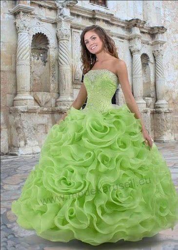 Quinceanera Bustier Ballkleid Brautkleid in Mint Abendkleid ...