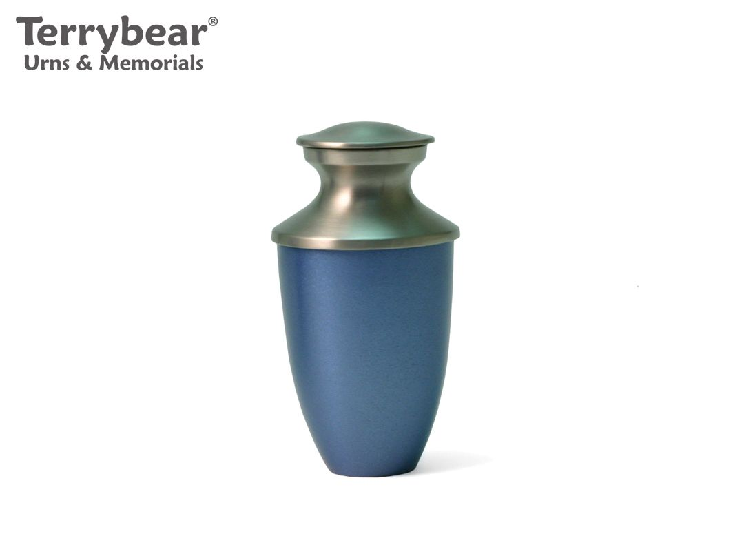 Terrybear Monterey Blue Keepsake. This Keepsake can hold a small amount of cremated remains.