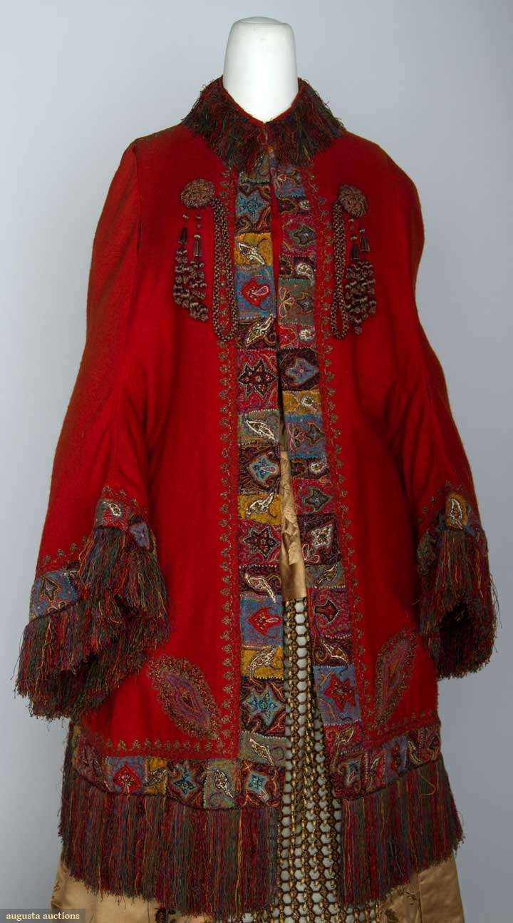 Two Wool Paisley Jackets, 1880s, Augusta Auctions, November 13, 2013 - NYC