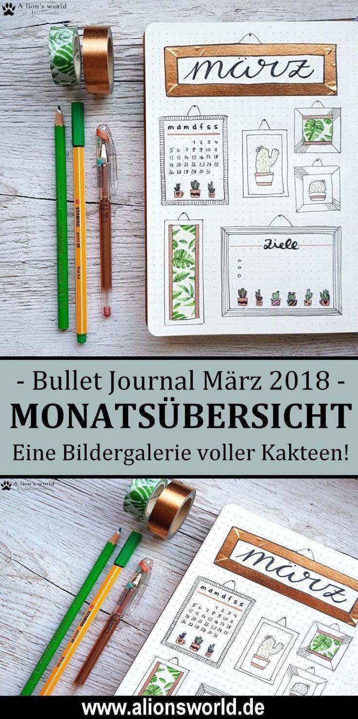 Bullet Journal | März – Mein kleiner grüner Kaktus