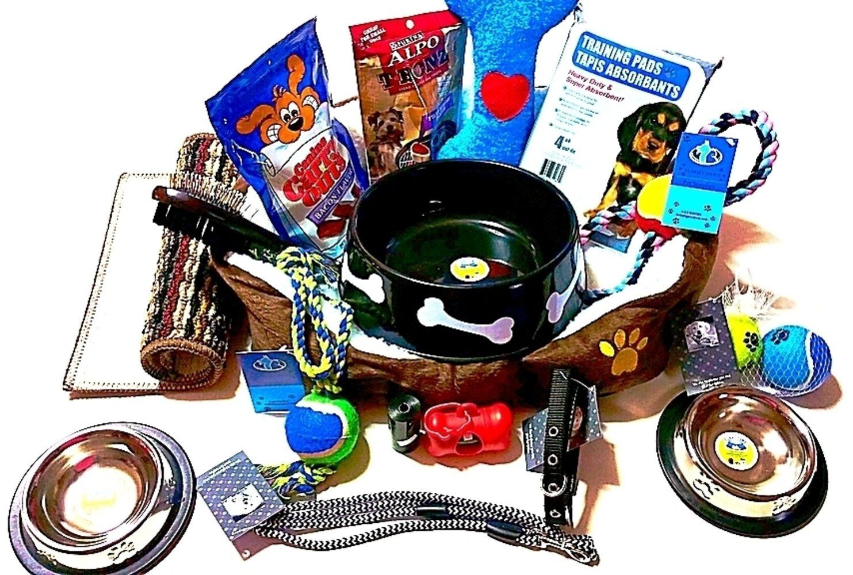 Complete puppy starter kit mixed dog gift set dog rope