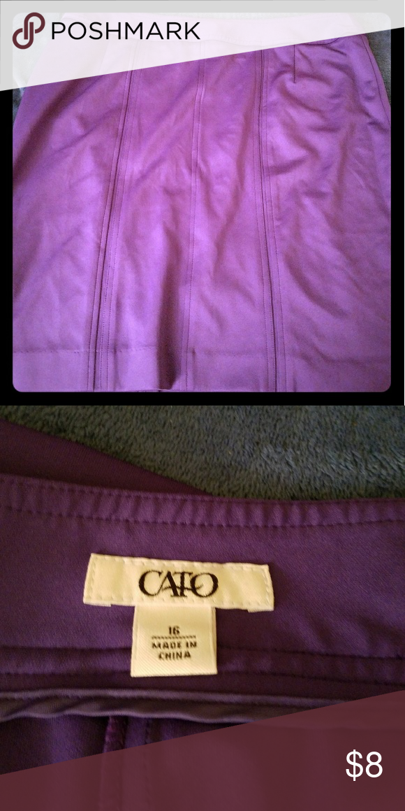 Purple skirt Excellent condition, only worn once Cato Skirts Pencil