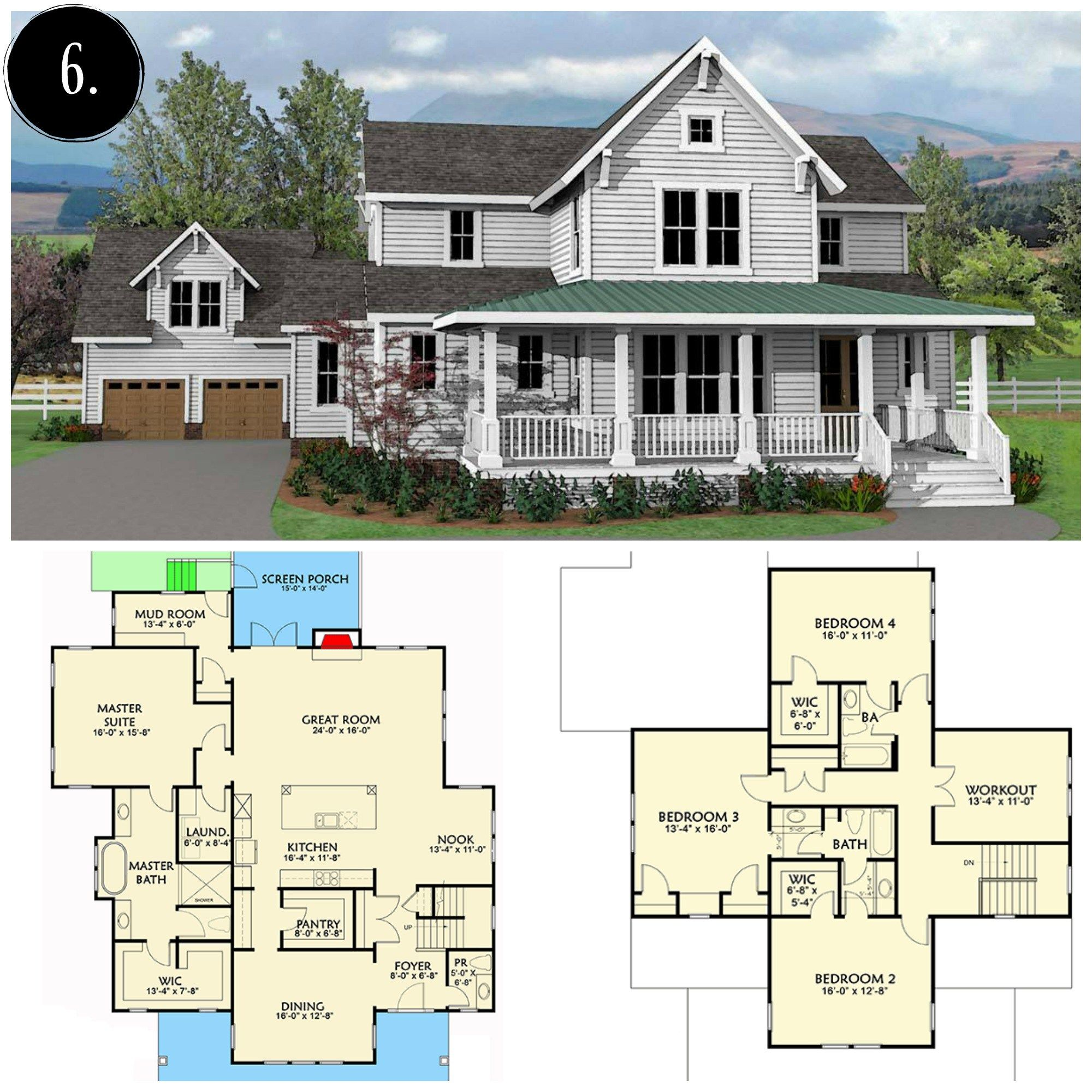 Modern Farmhouse Floor Plan Rooms For Rent Blog Modern Farmhouse Plans Modern Farmhouse Floorplan Southern House Plans