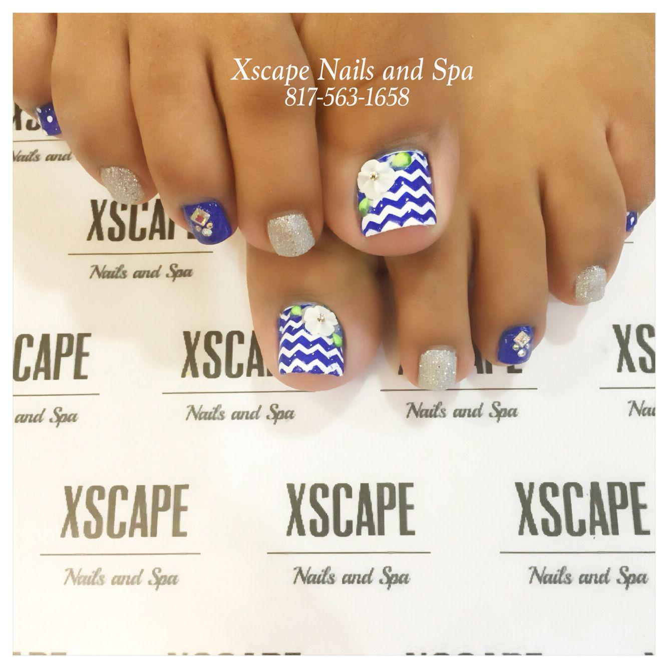 Dallas Cowboys toe designs   Cute Nails Designs   Pinterest ...