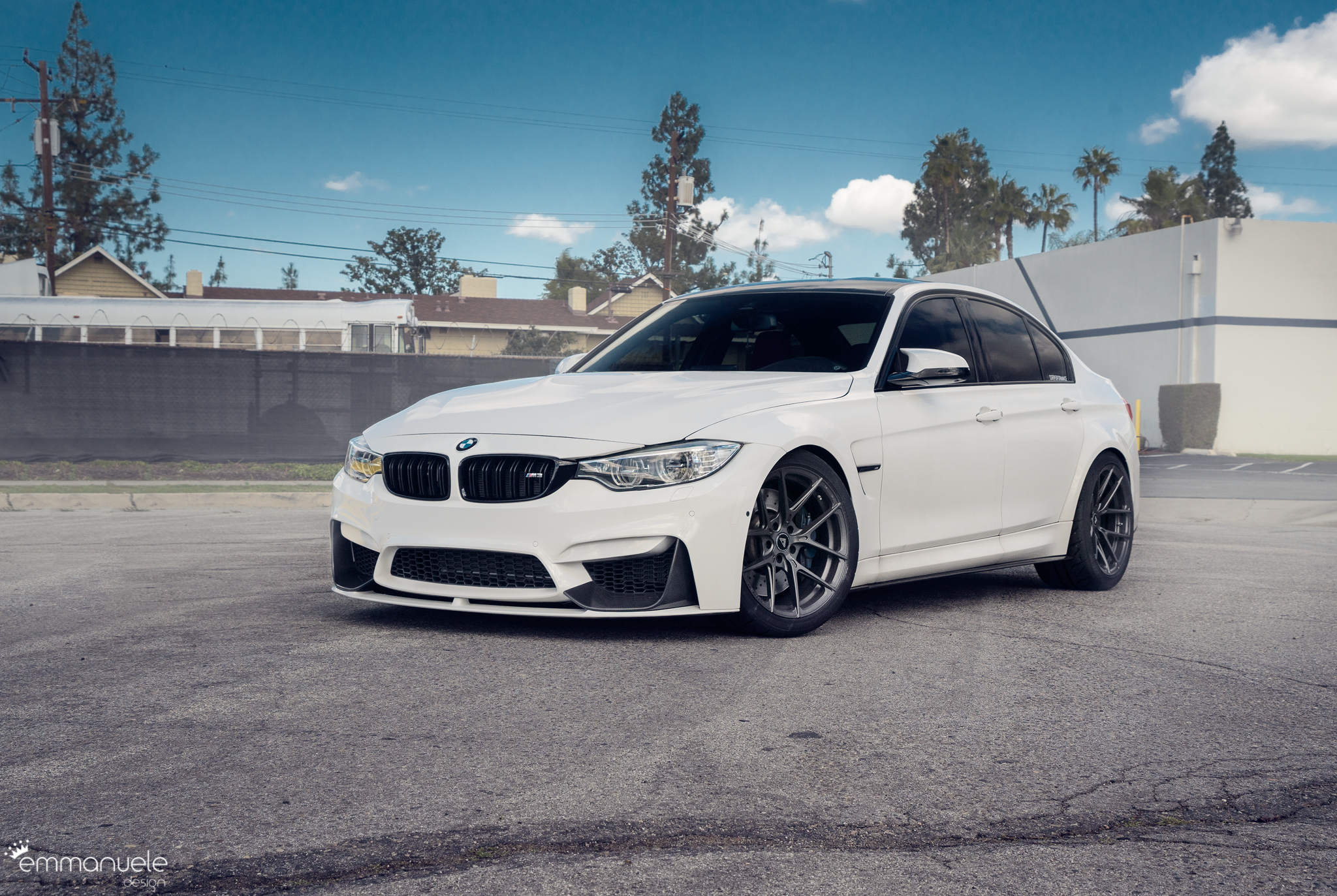 F80 M3 Lowered On Emmotion Suspension Linear Springs And