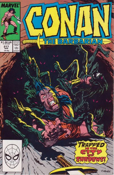 Cover for Conan the Barbarian (Marvel, 1970 series) #217