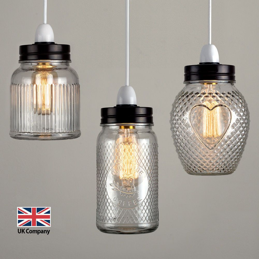 Glass Jar Lamp Shade Details About Vintage Retro Stye Glass Jar Ceiling Pendant Light