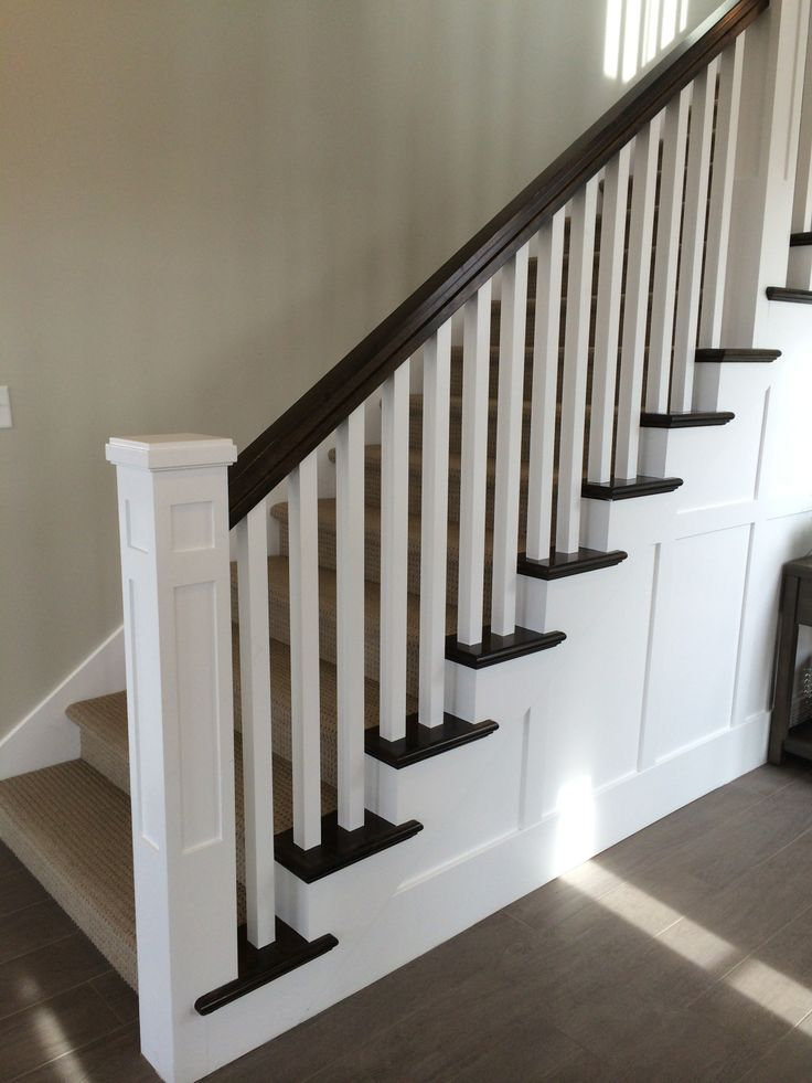 Transitional Staircase With Square Newel Post Here Is A | Newel Posts And Spindles | Custom | Craftsman Style | Lj Smith | Starting | Metal
