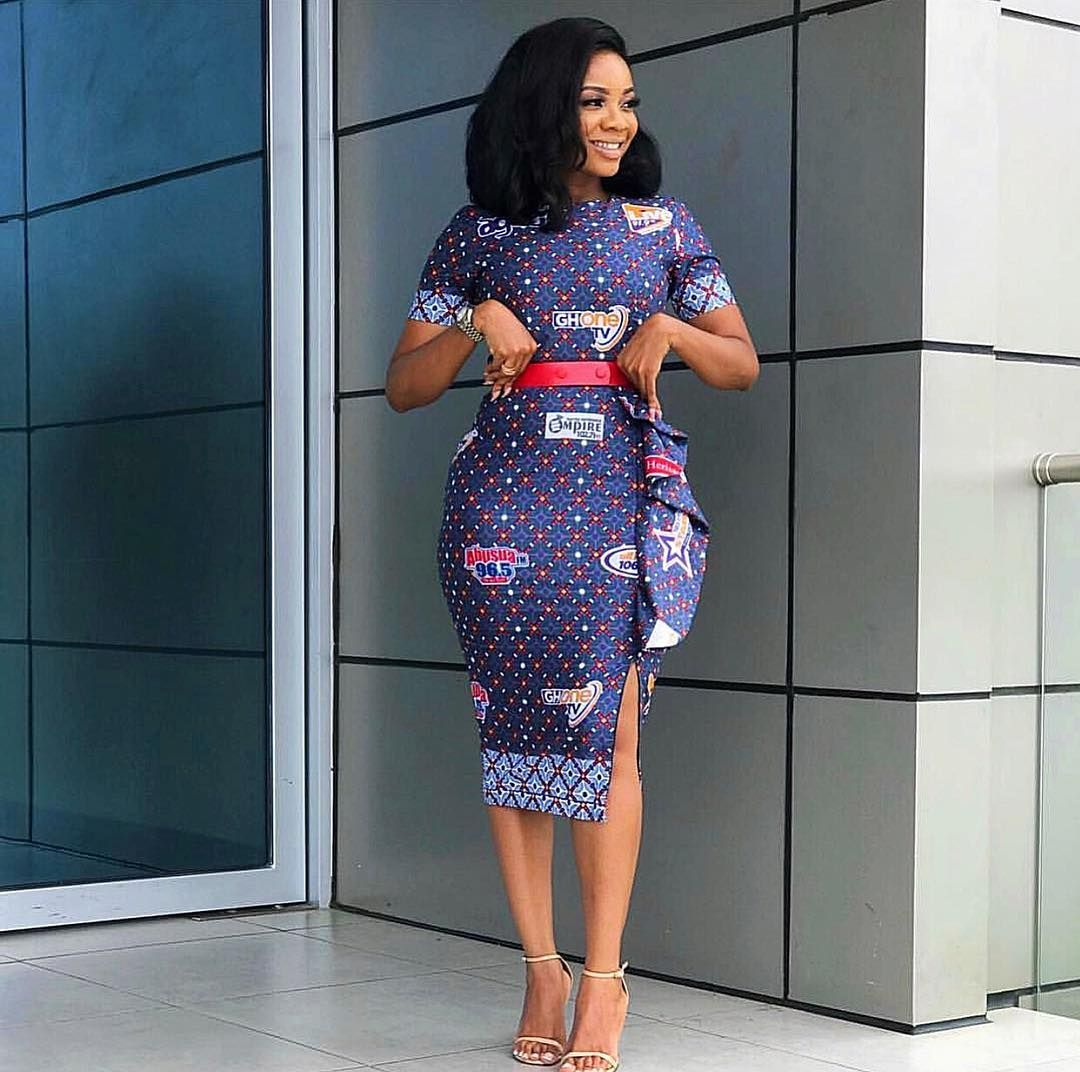 558b66902579 New Modern African Print Dresses Pictures 2019 • stylish f9 ...