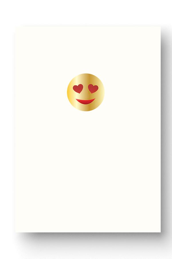 Heart Eyes Emoji Card With Images Eyes Emoji Heart Eyes Cards