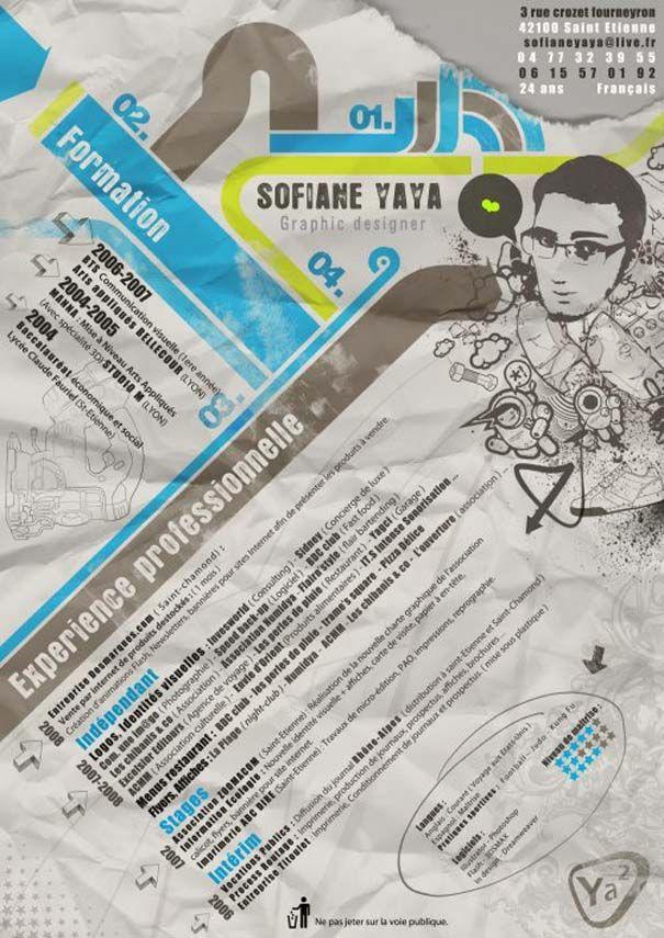 Creative Resumes 21 Lebenslauf Design Infografik Baccalaurea