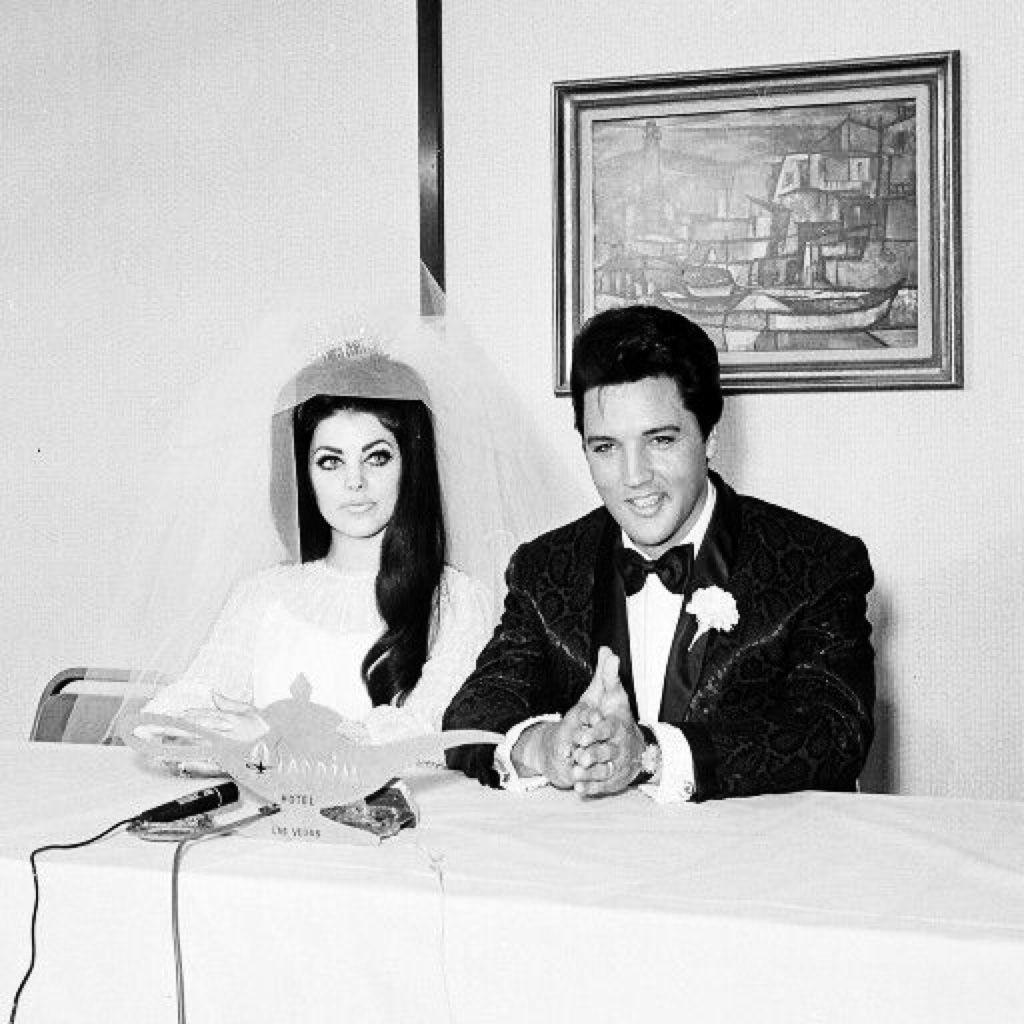 Elvis And Priscilla Presley Press Conference