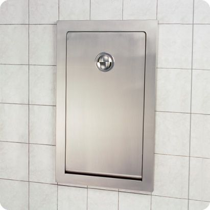 InStall Baby Changing Station KBSSRE Vertical Stainless Steel - Commercial bathroom baby changing table