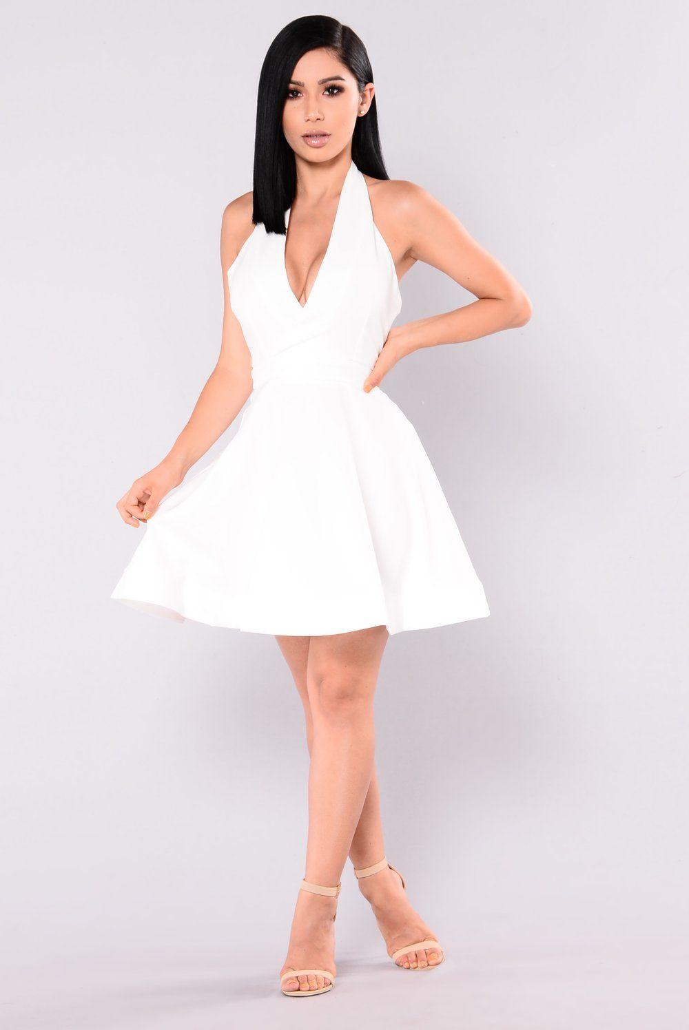 Paula Skater Dress , White