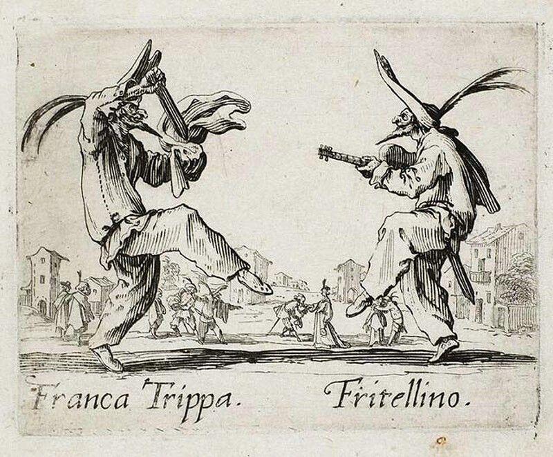 Franca Trippa and Fritellino, from Balli di Sfessania (c.1622)