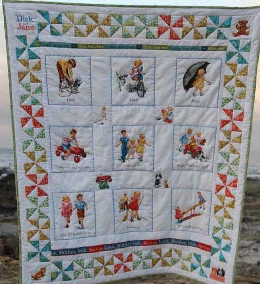 Dick and jane quilt pattern picture