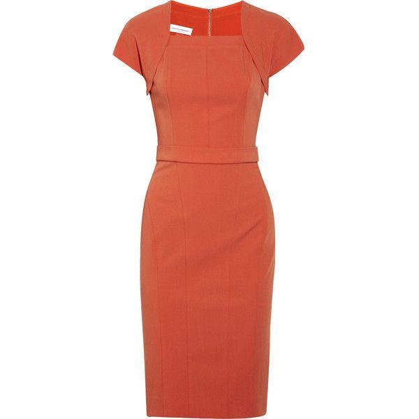 Narciso Rodriguez Wool-blend Stretch Gabardine Dress