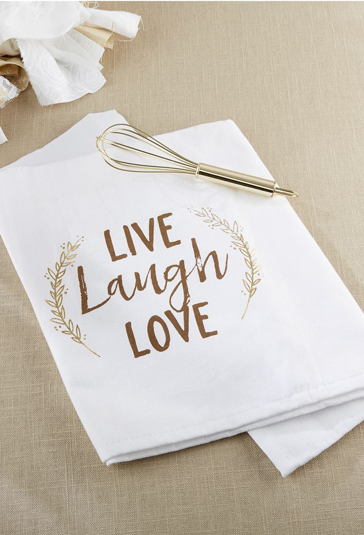 Live Laugh Love Whisk And Tea Towel