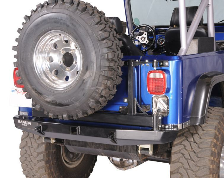 Hanson Offroad 60 Basic Rear Bumper With Tire Carrier For 76 86 Jeep Cj 5 Cj 7 Jeep Cj Jeep Jeep Cj7