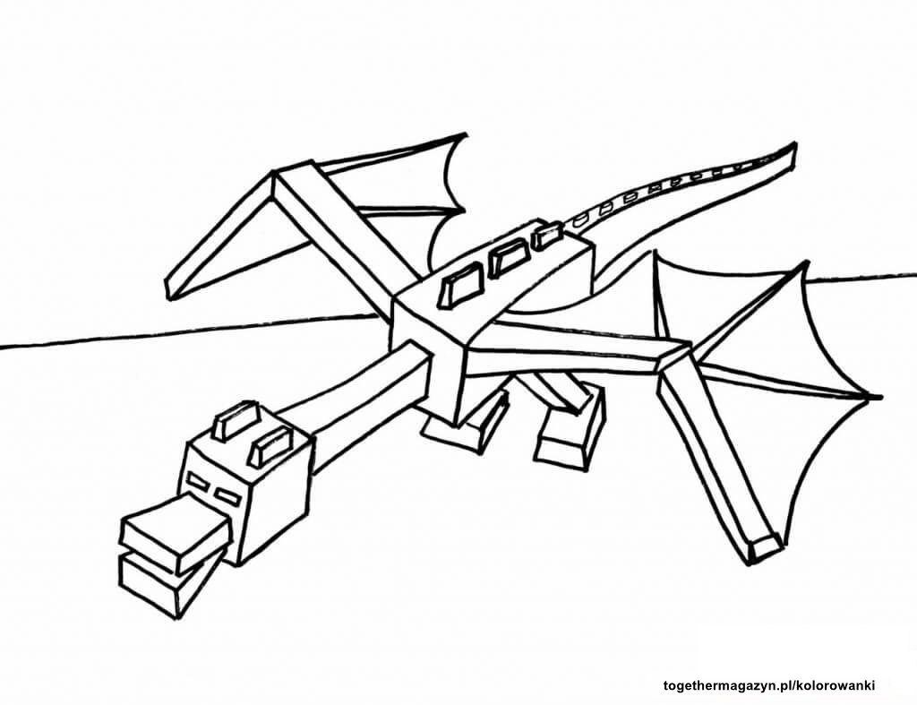 End Dragon Minecraft Coloring Pages Dragon Coloring Page Printable Coloring Pages