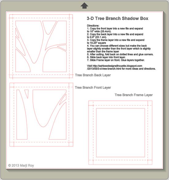 Ashbee Design Silhouette Projects  D Tree Branch  E  A Silhouette Tutorial