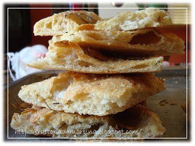 Trattoria da Martina - cucina tradizionale, regionale ed etnica: La pizza bianca tipo romana