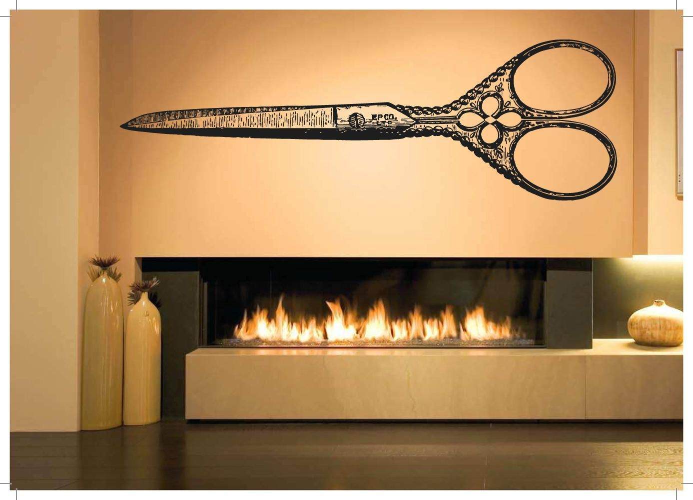 Wall Room Decor Art Vinyl Sticker Mural Decal Antique Scissors Big ...