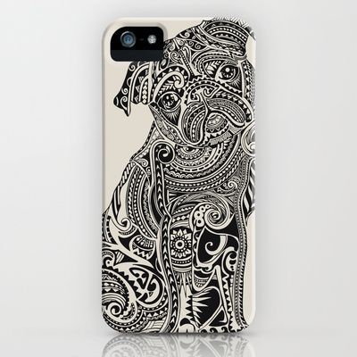 Polynesian Pug  iPhone & iPod Case by Huebucket - $35.00