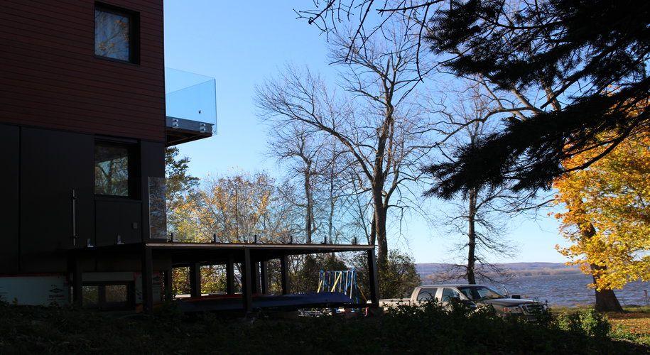 Rampe en verre,12 mm sans cadre et en acier inox Clôture Piscine