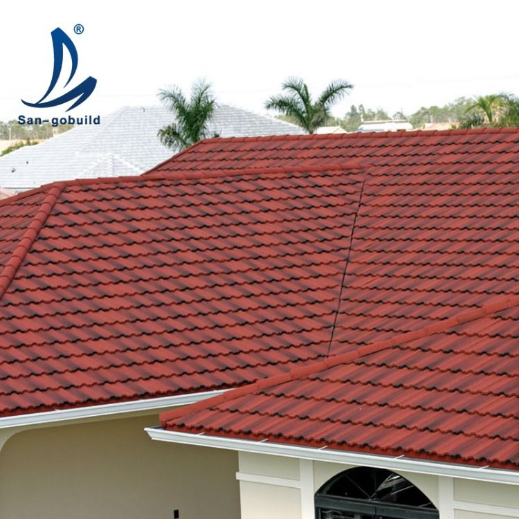 Sangobuild Stone Coated Steel Roof Residential Metal Roofing Metal Roof Tiles Metal Roof