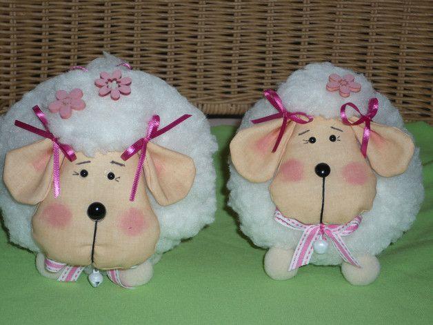 Tilda Ostern Schafe | Schäfchen, Satinband und Baumwollstoff