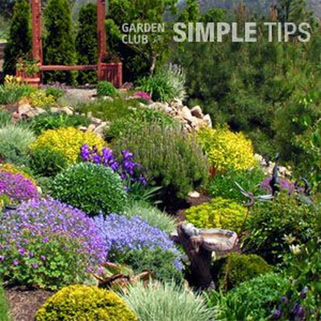 Simple Gorgeous Flower Bed Ideas On A Budget 13 | Sloped ... on Inclined Backyard Ideas id=85414