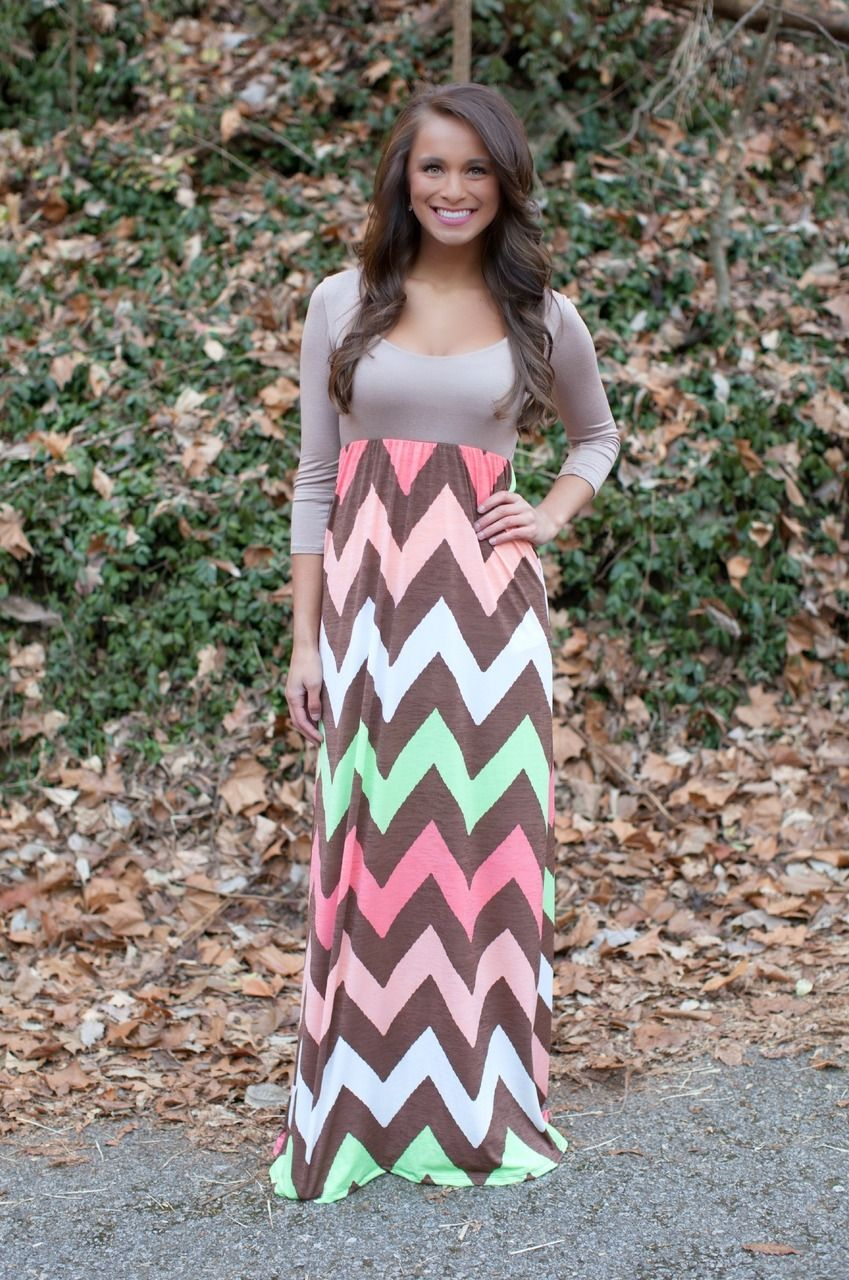Color Me Chevron Maxi Dress