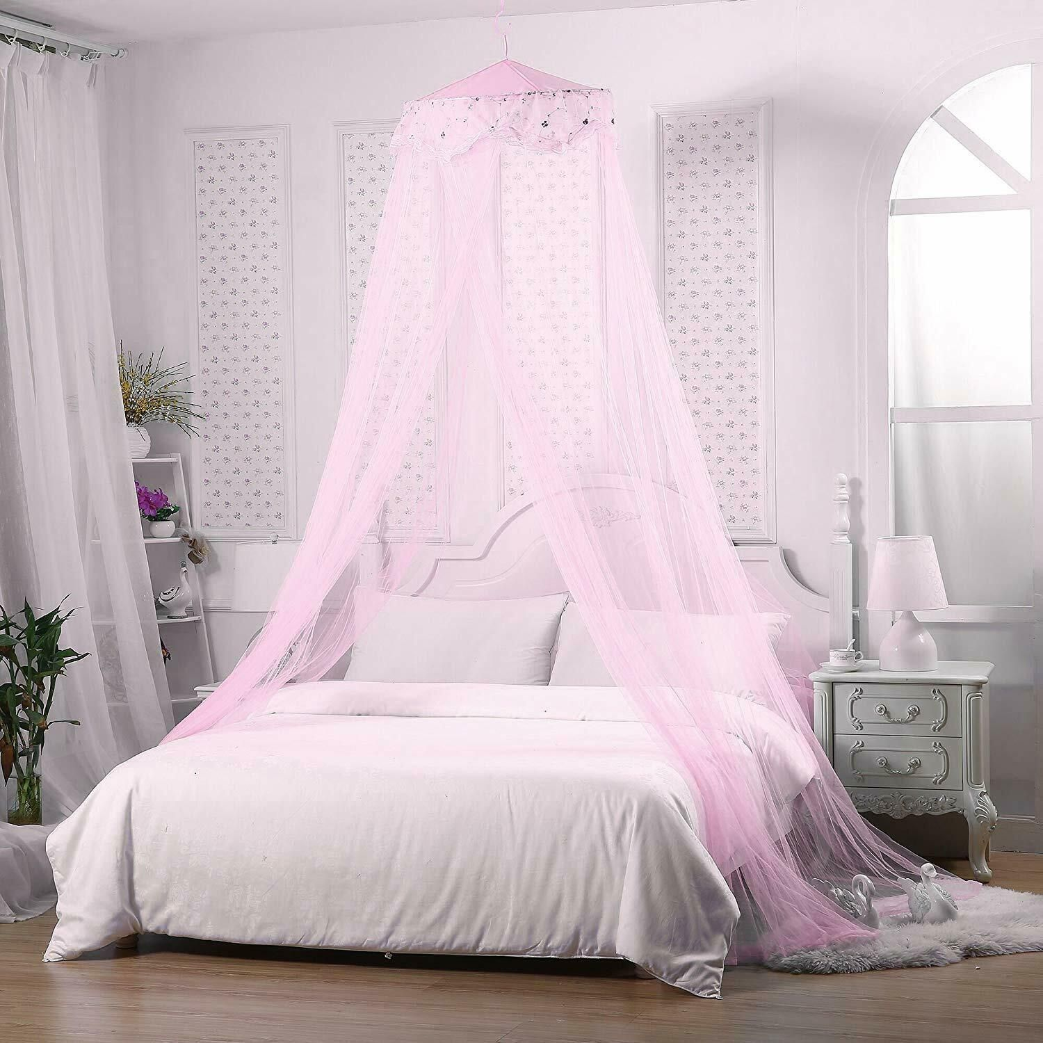 Jeteven Girl Bed Canopy Lace Mosquito Net For Girls Bed Princess Play Tent Read Bed Tents Ideas Of Bed Tents Girls Bed Canopy Bed Tent Princess Canopy Bed