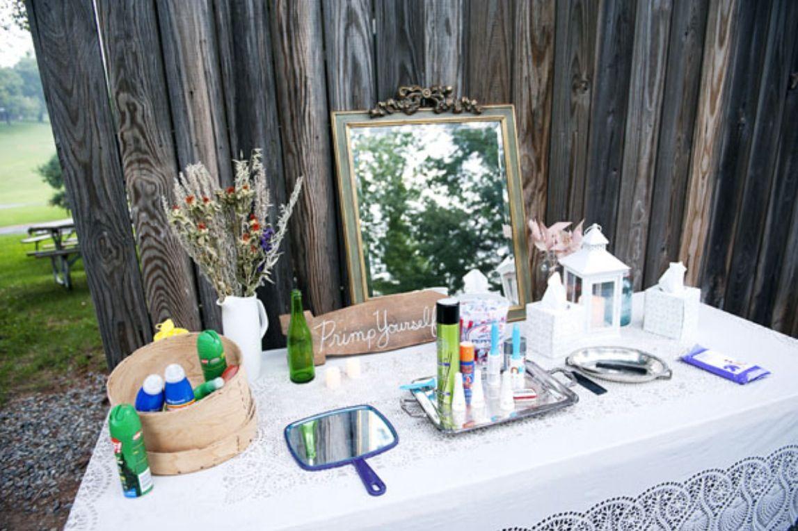 Outdoor Wedding - Have A Primp Station