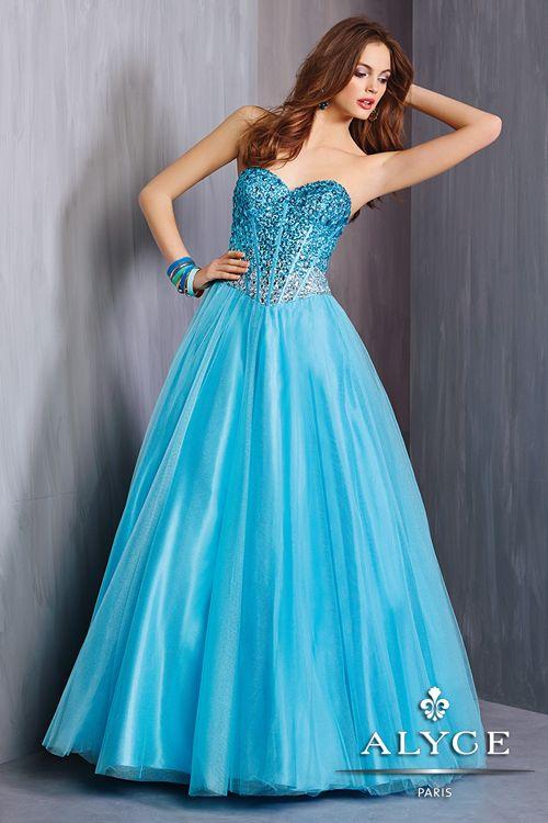 Alyce 6325 #ballgown #balldress #prom #prom2015 #promgown #promdress #alyceprom #alyceparis #alyce