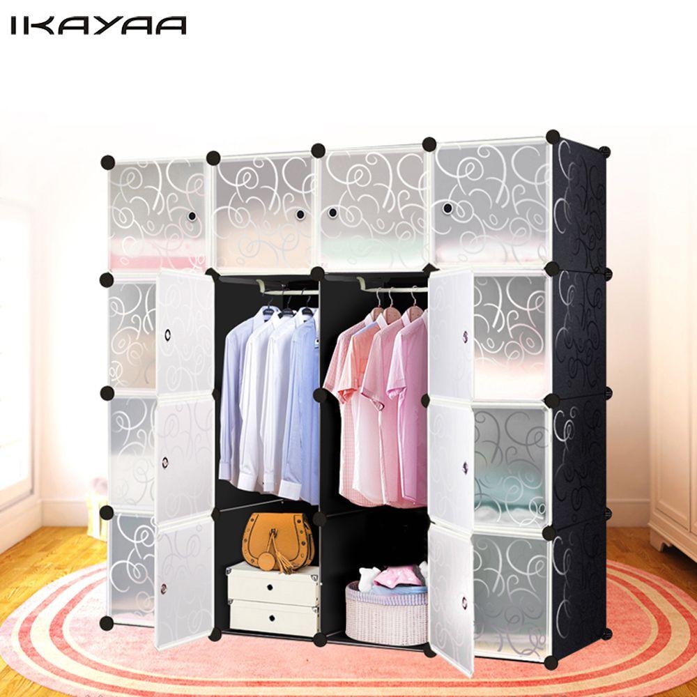 IKayaa UNS FR DE Lager multi-use Kleiderschrank Kleiderschrank ...